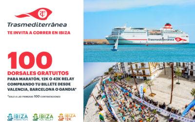 Trasmediterránea regala 100 dorsales para el Ibiza Marathon viajando a la isla en el 'barco del corredor'