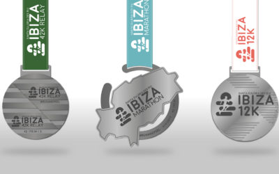 These are the new medals for the Ibiza Marathon, Ibiza 42K Relay and Ibiza 12K